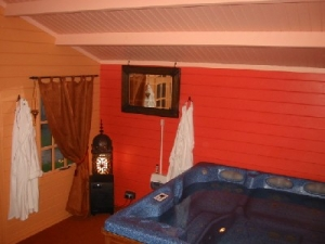 Hot tub in summer house, 2006.